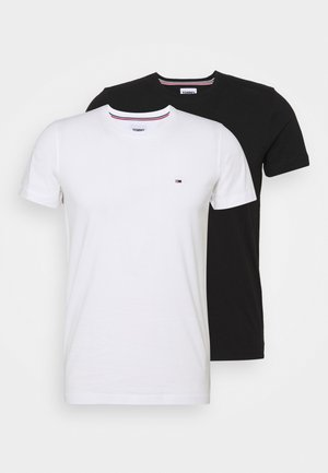 CNECK TEES 2 PACK - T-shirt - bas - white / black