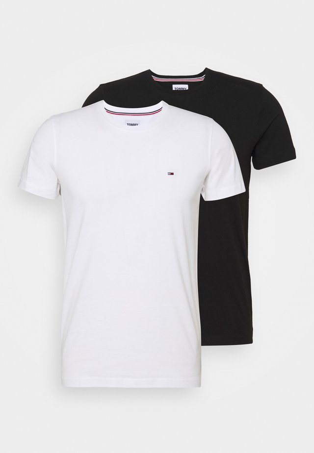 CNECK TEES 2 PACK - T-paita - white / black