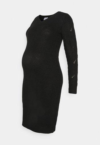 MLLINA DRESS - Sukienka dzianinowa - black