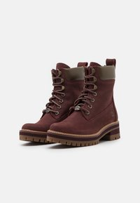 Timberland - COURMAYEUR VALLEY YBOOT - Lace-up ankle boots - burgundy - 2