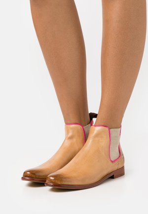 SELINA  - Ankle boots - imola/sand/fluo fuxia/white/natural