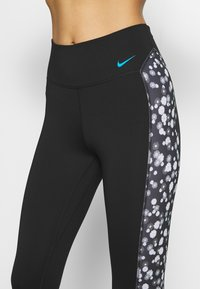 Nike Performance - ONE DAISY - Collants - black/laser blue