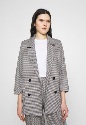 TWIGGY - Short coat - white/black