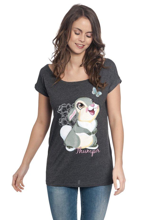 DISNEY, BAMBI - Print T-shirt - dunkelgrau meliert