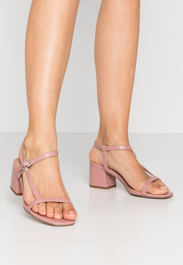 WIDE FIT TIZZY - Sandals - light pink