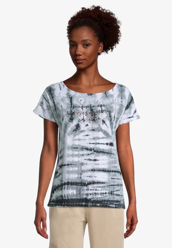 Print T-shirt - cream khaki