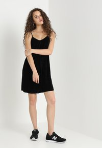 Urban Classics - LADIES VELVET - Day dress - black - 1