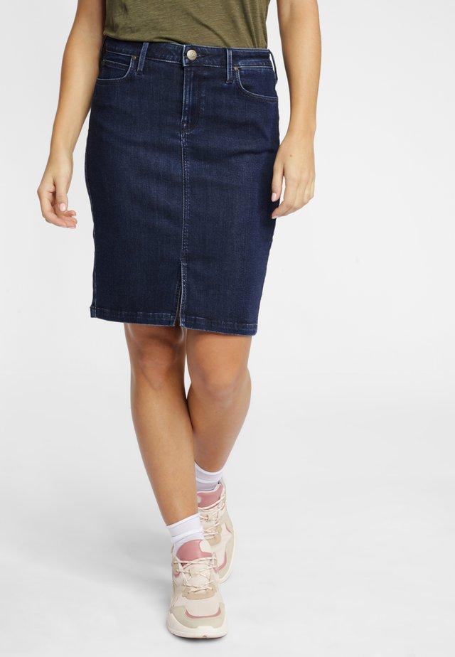 Denim skirt - ash worn