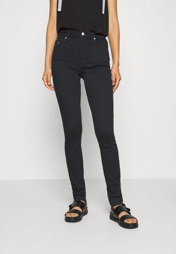 HIGH RISE SKINNY - Jeans Skinny Fit - black denim