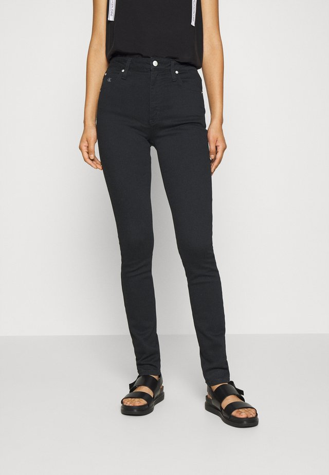 HIGH RISE SKINNY - Jeansy Skinny Fit - black denim