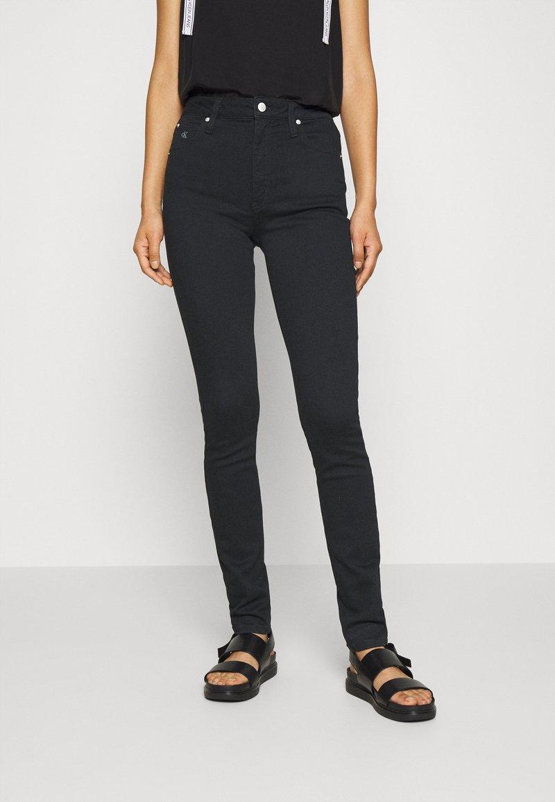 Calvin Klein Jeans - HIGH RISE SKINNY - Jeans Skinny - black denim