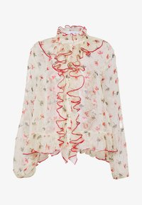 Lost Ink - RUFFLE FRONT PRINTED BLOUSE - Bluser - multi - 4