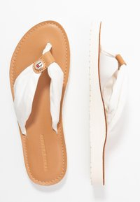 Tommy Hilfiger - LEATHER FOOTBED BEACH SANDAL - Sandaler m/ tåsplit - ivory - 3