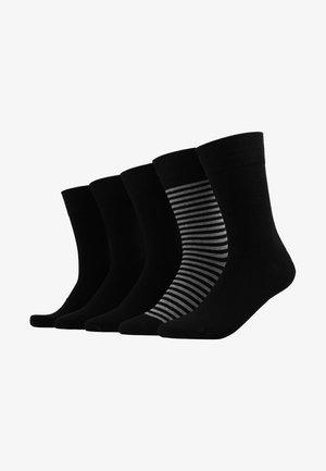 FIT 5PACK - Ponožky - black