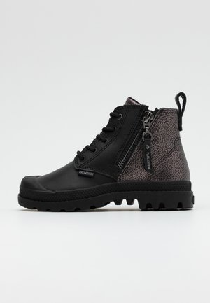 PAMPA ZIP ROCK - Lace-up ankle boots - black
