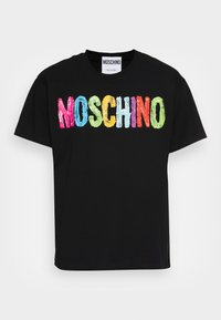 MOSCHINO - T-shirt z nadrukiem - fantasy black - 3