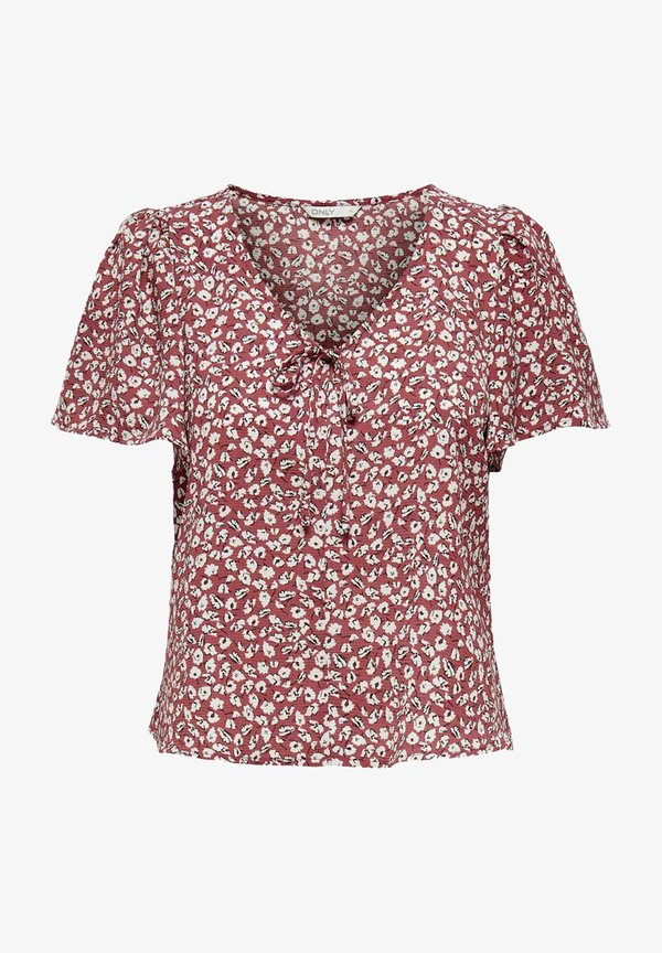 ONLY T-shirt z nadrukiem - apple butter/czerwony IBNB
