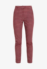 Fashion Union - BRICK TROUSERS - Spodnie materiałowe - red check - 3