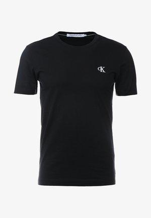 ESSENTIAL SLIM TEE - Jednoduché triko - black