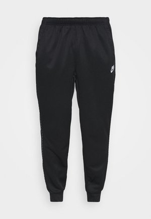 REPEAT - Pantalon de survêtement - black/reflective silver