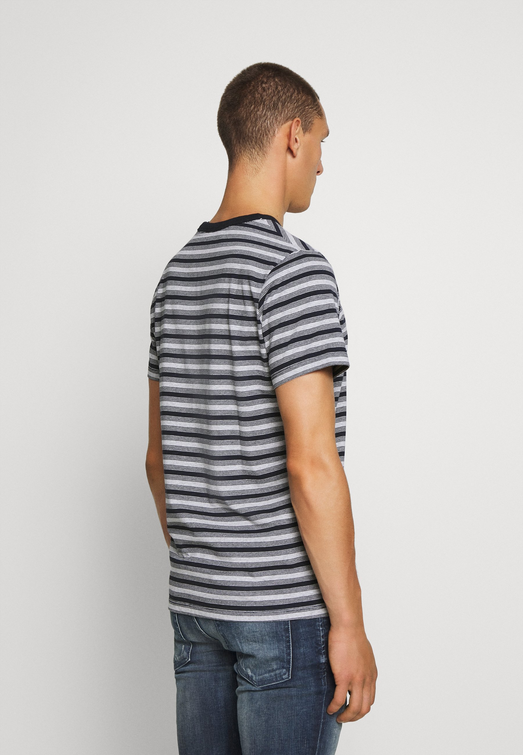 Jack & Jones JORRASPO TEE CREW NECK - Print T-shirt - light grey melange H3No3