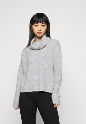 OVERSIZED ROLL NECK  - Svetr - mottled light grey