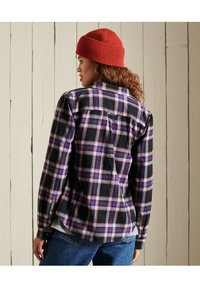 Superdry - CLASSIC - Button-down blouse - hatton check navy - 2