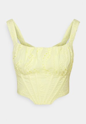 BRODERIE CORSET - Toppe - yellow
