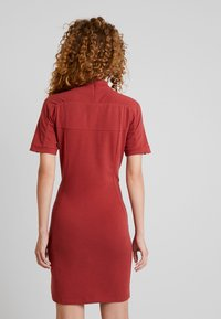 adidas Originals - TEE DRESS - Etuikleid - mystery red - 2