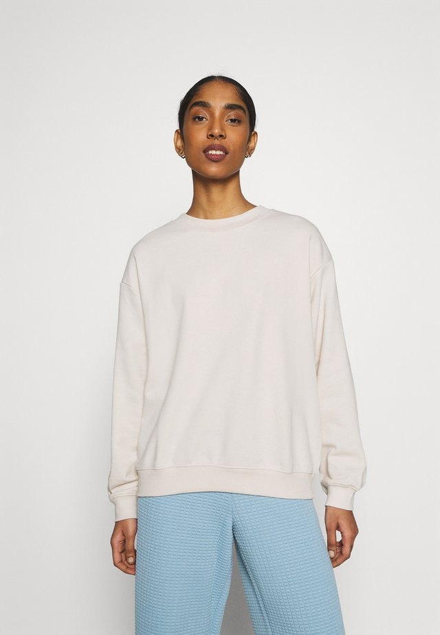 Sweatshirt - light beige