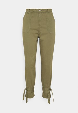TIE TROUSERS - Jeans Tapered Fit - khaki