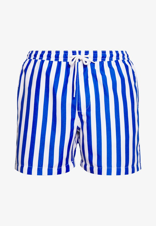 STRIPE - Shorts da mare - blue/white