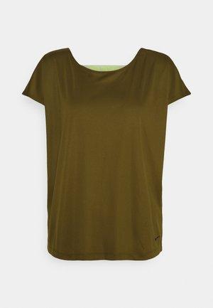DRY ELASTIKA - Sports shirt - olive flak/volt/black