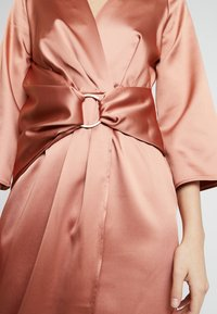 Closet - PLEATED WRAP DRESS - Day dress - rose gold - 6