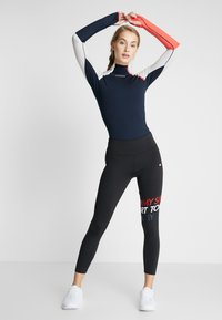 Tommy Hilfiger - TRAIN WARM BODYSUIT - Body sportivo - blue - 1