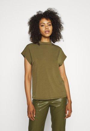 VICATHRINE FUNNEL NECK - Basic T-shirt - dark olive