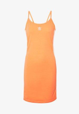 TANK DRESS - Pouzdrové šaty - semi coral/white