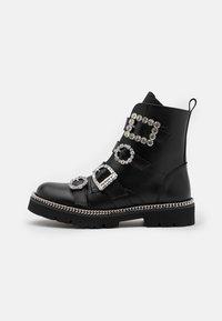 Dune London - PAGOLA - Cowboy/biker ankle boot - black - 0