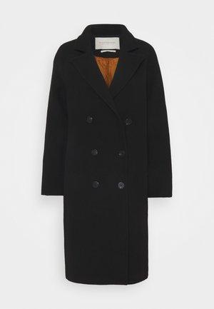 DOUBLE BREASTED CLASSIC BLEND - Klasický kabát - black