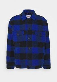 Tommy Jeans - PLAID TRUCKER JACKET UNISEX - Välikausitakki - providence blue - 0