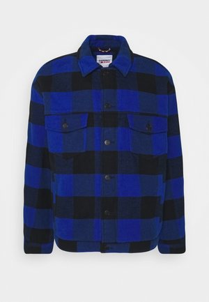PLAID TRUCKER JACKET UNISEX - Light jacket - providence blue