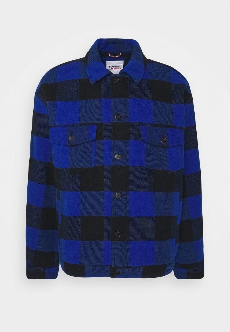 Tommy Jeans - PLAID TRUCKER JACKET UNISEX - Välikausitakki - providence blue