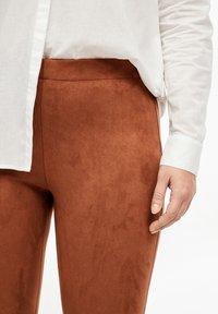 Triangle - Leggings - Trousers - cognac - 4