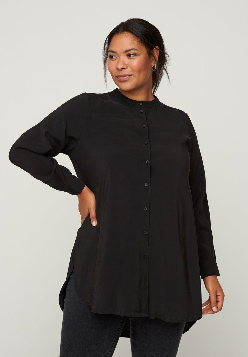 Zizzi - Button-down blouse - black