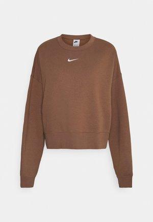 CREW - Sweatshirts - archaeo brown/white