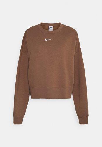 CREW - Sweatshirt - archaeo brown/white
