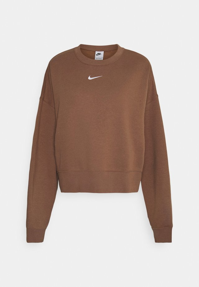 CREW - Sweater - archaeo brown/white