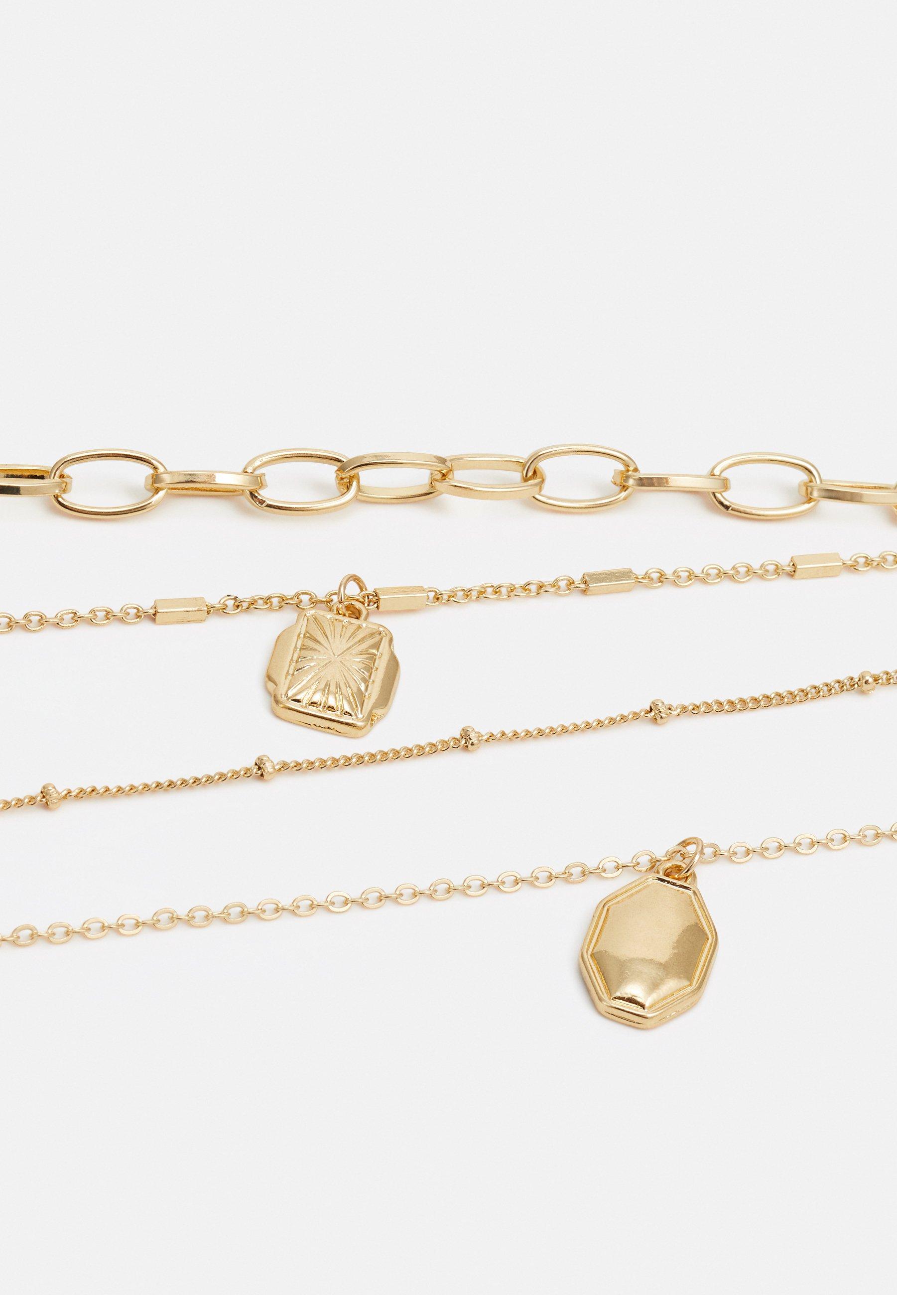 Pieces Pcnaomi Combi Necklace - Halskette Gold-coloured/gold