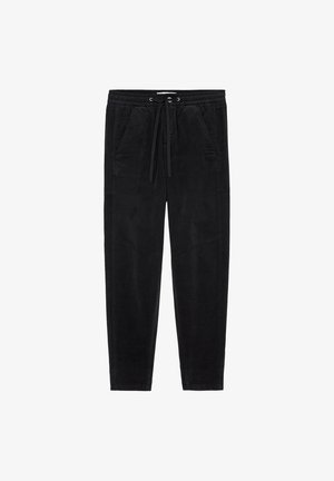 RELAXED FIT ANKLE LENGTH MID WAIST CUTLINES 5 POCKET - Tracksuit bottoms - black