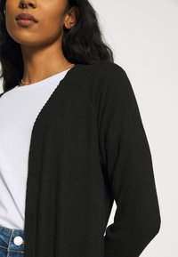 ONLY - ONLLUNA LONG CARDIGAN - Chaqueta de punto - black - 3